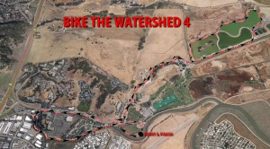 Bike The Watershed 4 course map. 2014 Gallinas Watershed Council