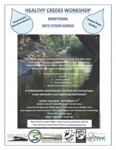 Watershed Forum Creek Monitoring Workshop