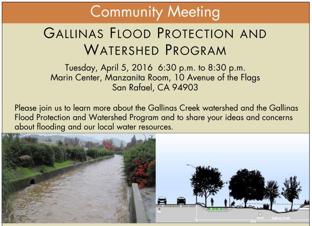 Gallinas Flood Community Meeting April 5 2016