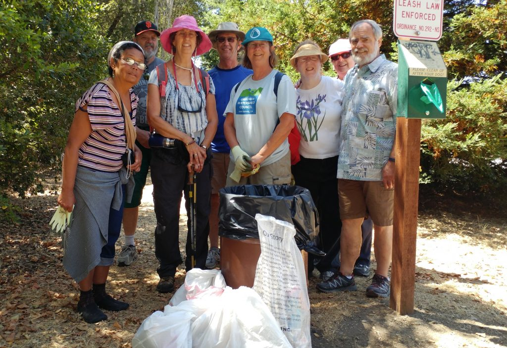 Trash collection on GWC Hike