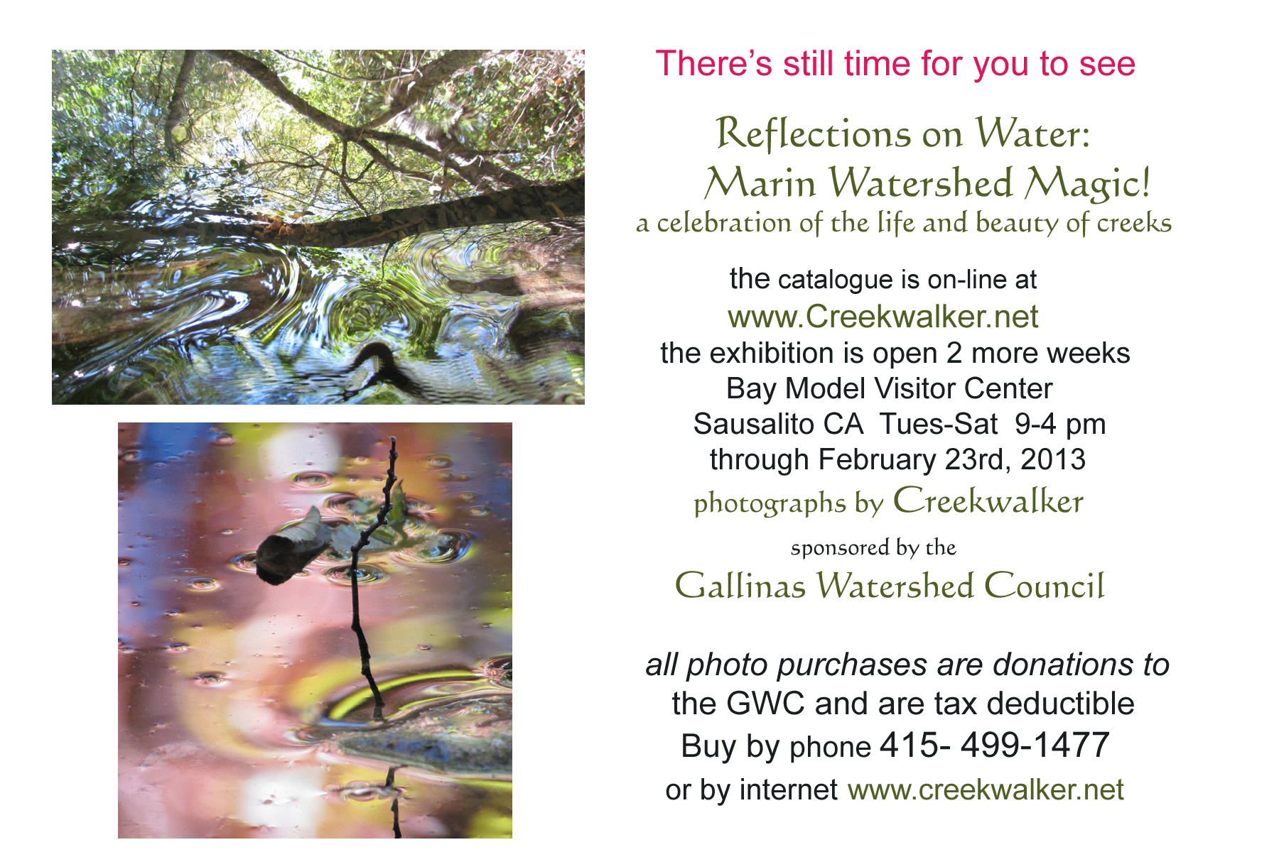"""Reflections on Water"" Photography Exhibit 2013"