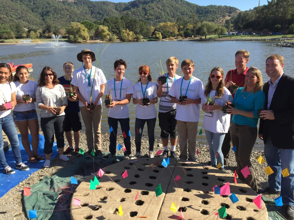 MSEL Students help launch Floating Island
