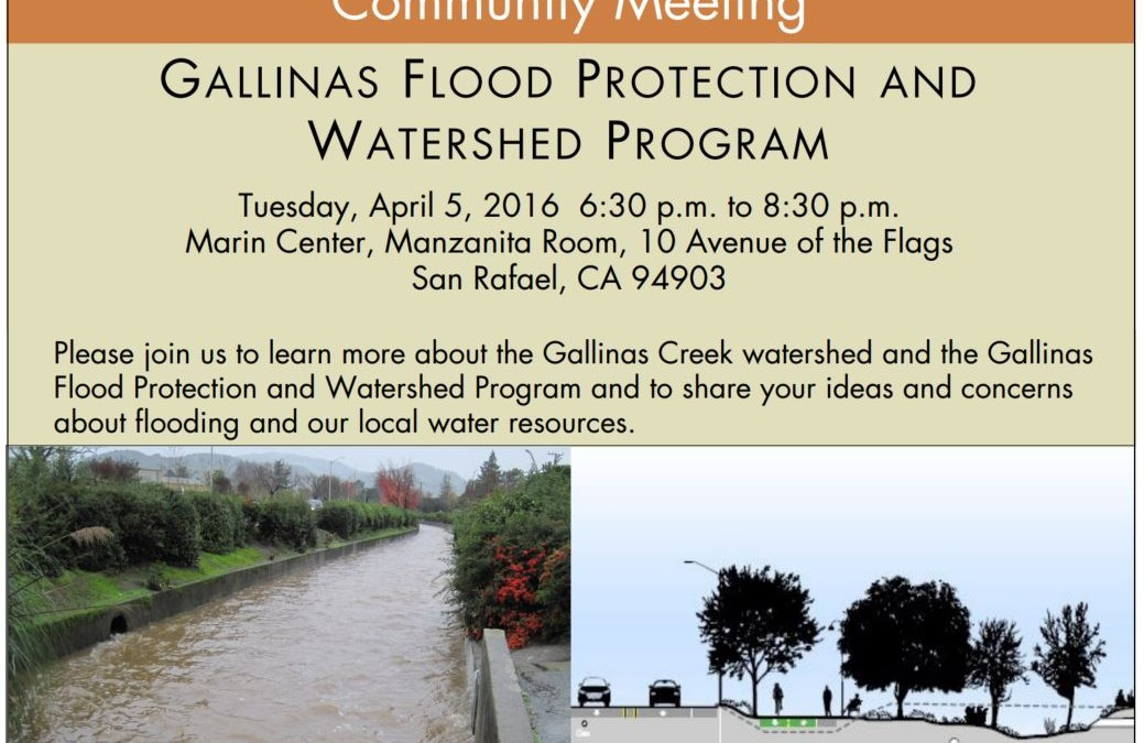 Community Meeting April 5: Gallinas Flood Protection and Watershed Program