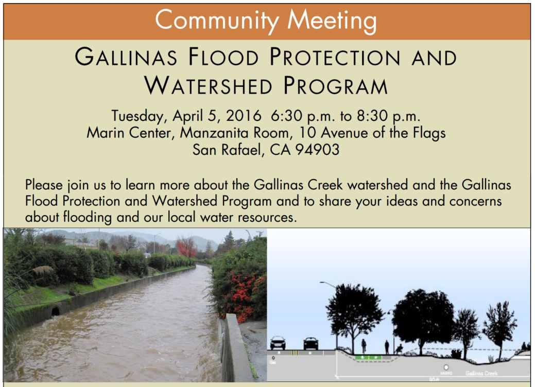 Gallinas Flood Community Meeting April 5 2016