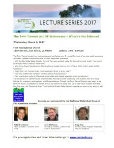 March 8 Lecture: Twin Tunnels and SF Waterways